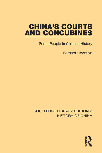 China's Courts and Concubines Some People in Chinese History book cover