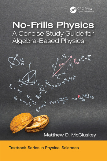 No-Frills Physics A Concise Study Guide for Algebra-Based Physics book cover