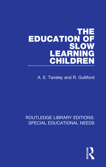 The Education of Slow Learning Children book cover