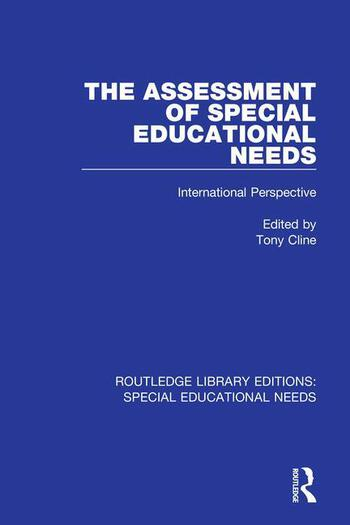 The Assessment of Special Educational Needs International Perspective book cover