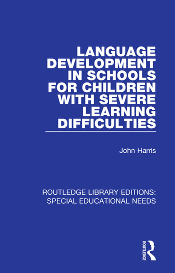 Language Development in Schools for Children with Severe Learning Difficulties book cover