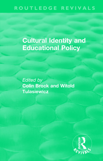 Cultural Identity and Educational Policy book cover