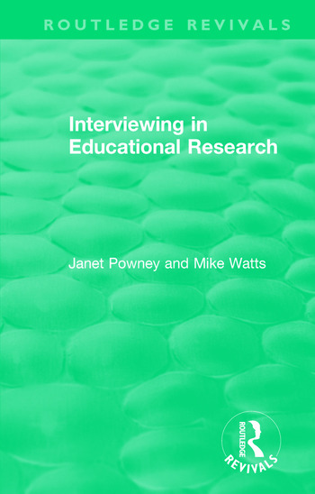Interviewing in Educational Research book cover