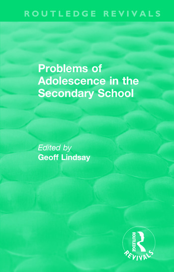Problems of Adolescence in the Secondary School An Evaluation of Support Centres book cover