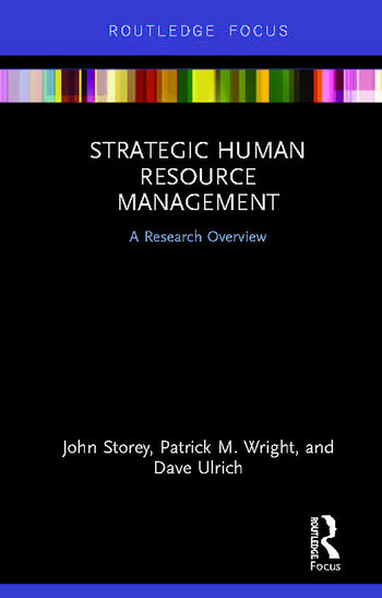 Strategic Human Resource Management A Research Overview book cover