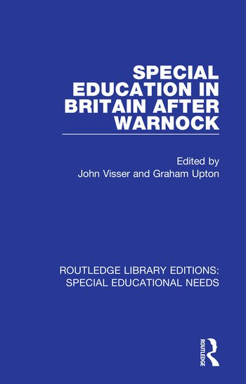 Special Education in Britain after Warnock book cover