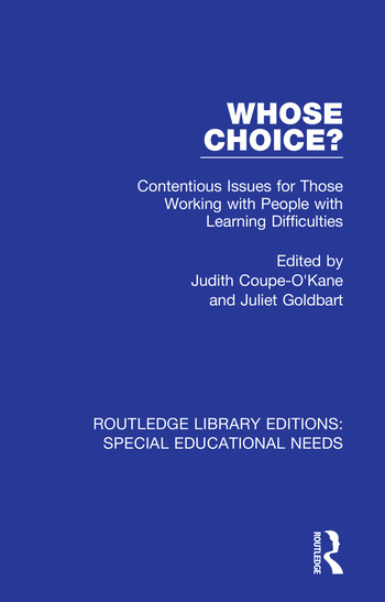 Whose Choice? Contentious Issues for Those Working with People with Learning Difficulties book cover
