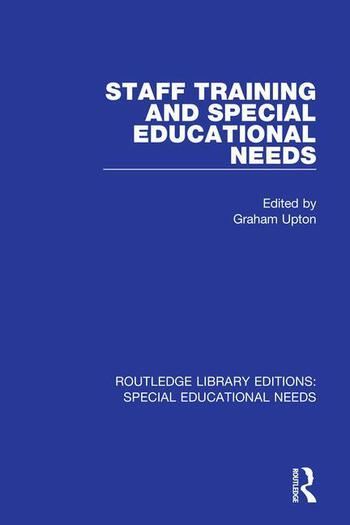 Staff Training and Special Educational Needs book cover