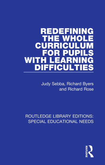 Redefining the Whole Curriculum for Pupils with Learning Difficulties book cover