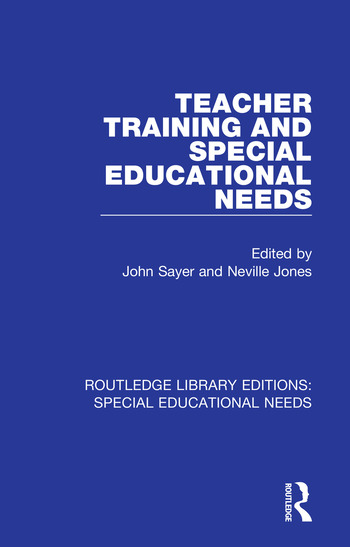 Teacher Training and Special Educational Needs book cover