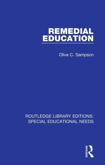 Remedial Education book cover