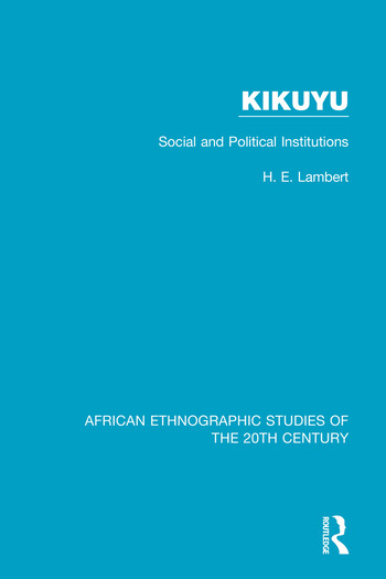 Kikuyu Social and Political Institutions book cover