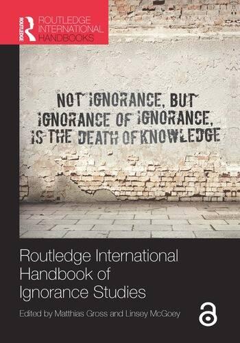 Routledge International Handbook of Ignorance Studies book cover