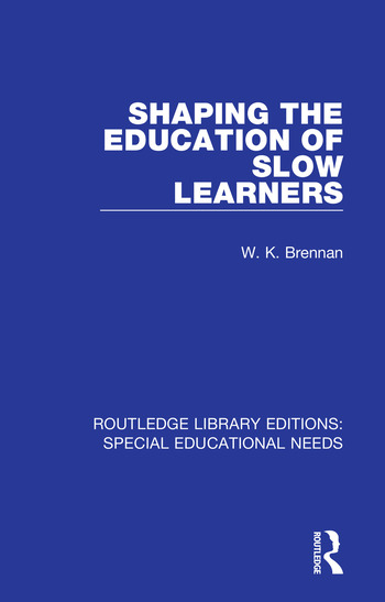 Shaping the Education of Slow Learners book cover