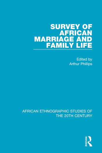 Survey of African Marriage and Family Life book cover