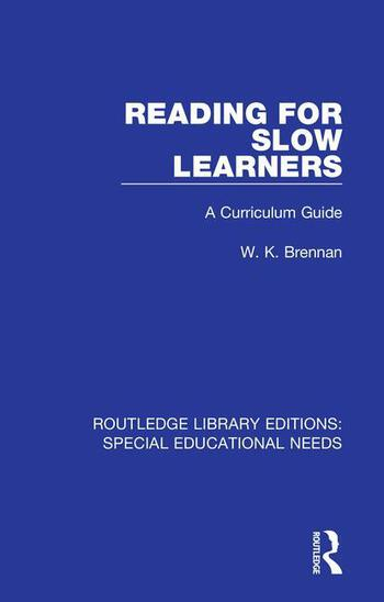 Reading for Slow Learners A Curriculum Guide book cover