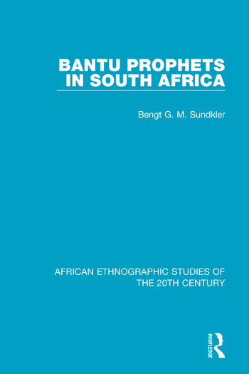 Bantu Prophets in South Africa book cover