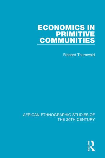Economics in Primitive Communities book cover