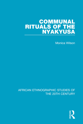 Communal Rituals of the Nyakyusa book cover