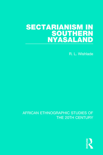 Sectarianism in Southern Nyasaland book cover