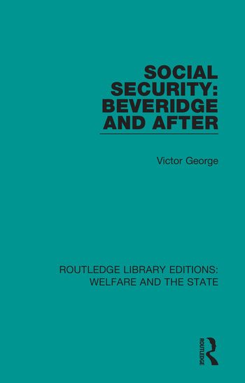 Social Security: Beveridge and After book cover