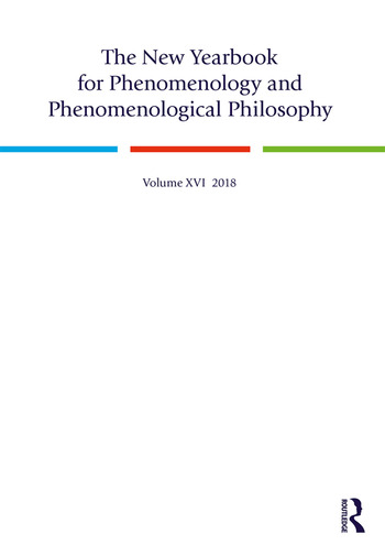 The New Yearbook for Phenomenology and Phenomenological Philosophy Volume 16 book cover