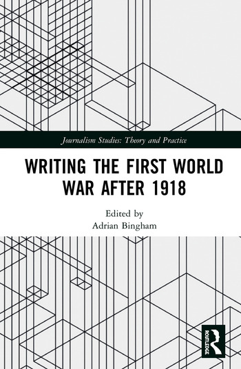 Writing the First World War after 1918 book cover