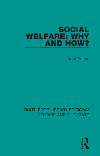 Social Welfare: Why and How? book cover