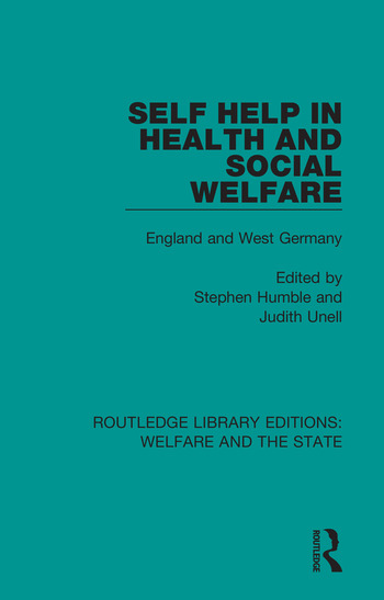 Self Help in Health and Social Welfare England and West Germany book cover