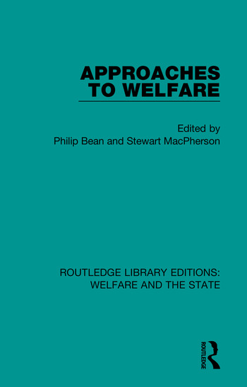 Approaches to Welfare book cover
