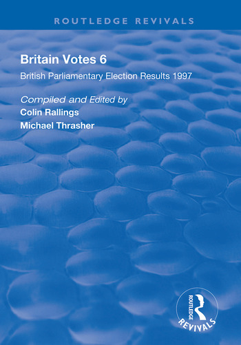 Britain Votes 6 Parliamentary Election Results 1997 book cover