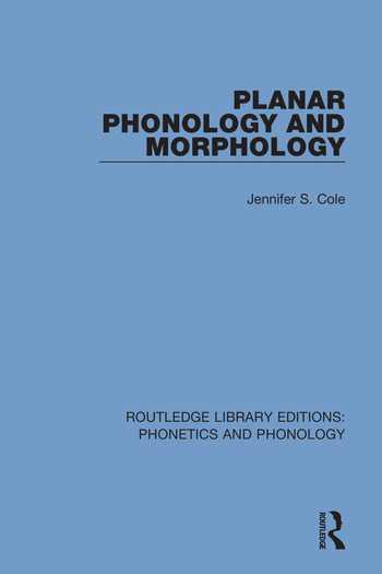 Planar Phonology and Morphology book cover
