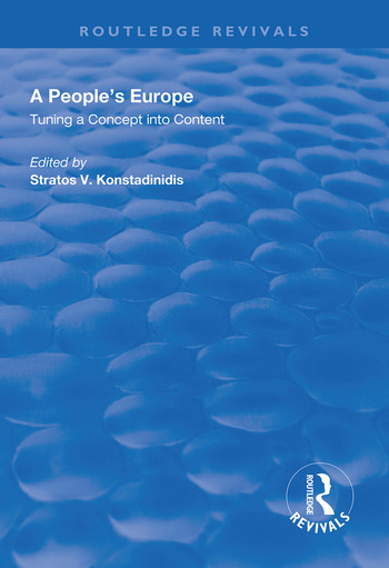 A People's Europe Turning a Concept into Content book cover