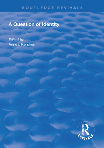 A Question of Identity book cover