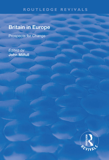 Britain in Europe Prospects for Change book cover