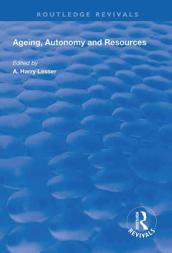 Ageing, Autonomy and Resources book cover