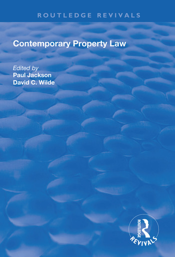 Contemporary Property Law book cover
