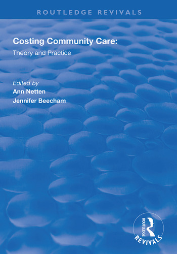 Costing Community Care Theory and Practice book cover