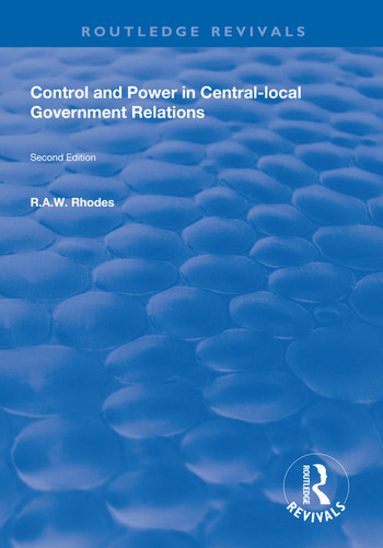 Control and Power in Central-local Government Relations book cover