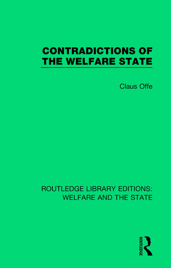 Contradictions of the Welfare State book cover