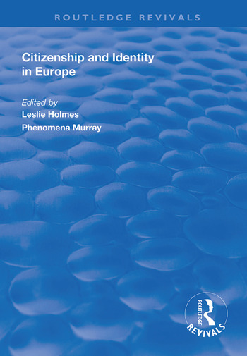 Citizenship and Identity in Europe book cover