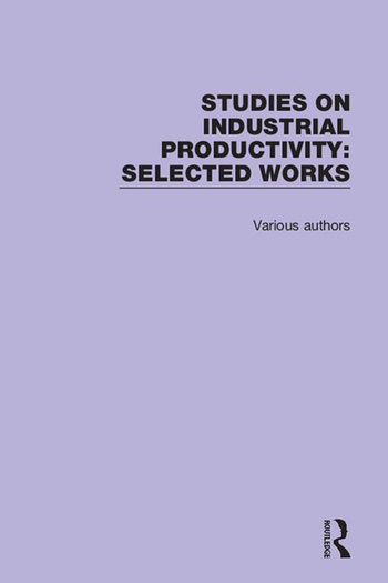 Studies on Industrial Productivity Selected Works book cover