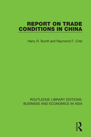 Report on Trade Conditions in China book cover
