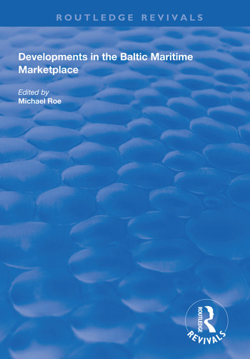 Developments in the Baltic Maritime Marketplace book cover