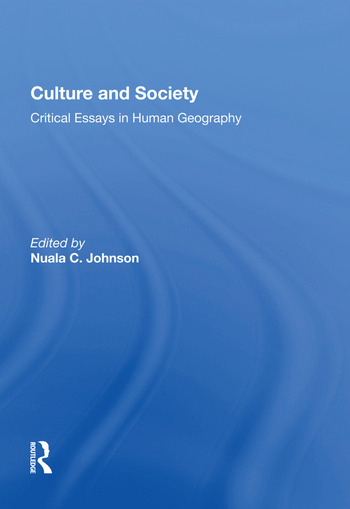 Culture and Society Critical Essays in Human Geography book cover