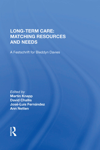 Long-Term Care: Matching Resources and Needs book cover