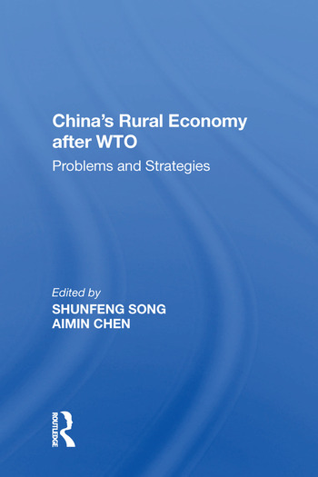 China's Rural Economy after WTO Problems and Strategies book cover
