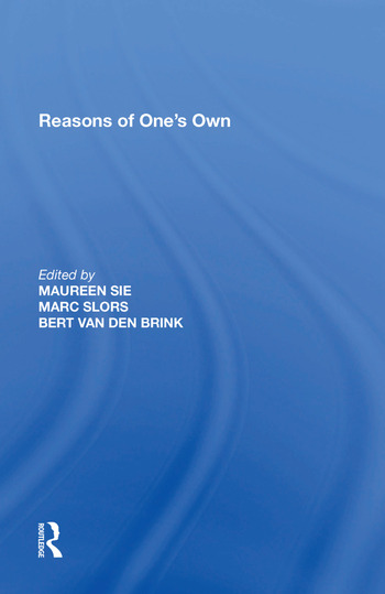 Reasons of One's Own book cover
