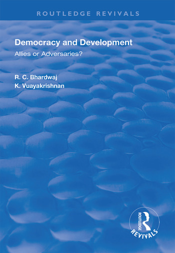 Democracy and Development Allies or Adversaries? book cover
