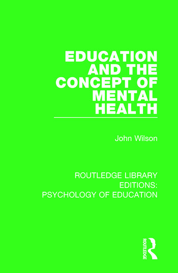 Education and the Concept of Mental Health book cover